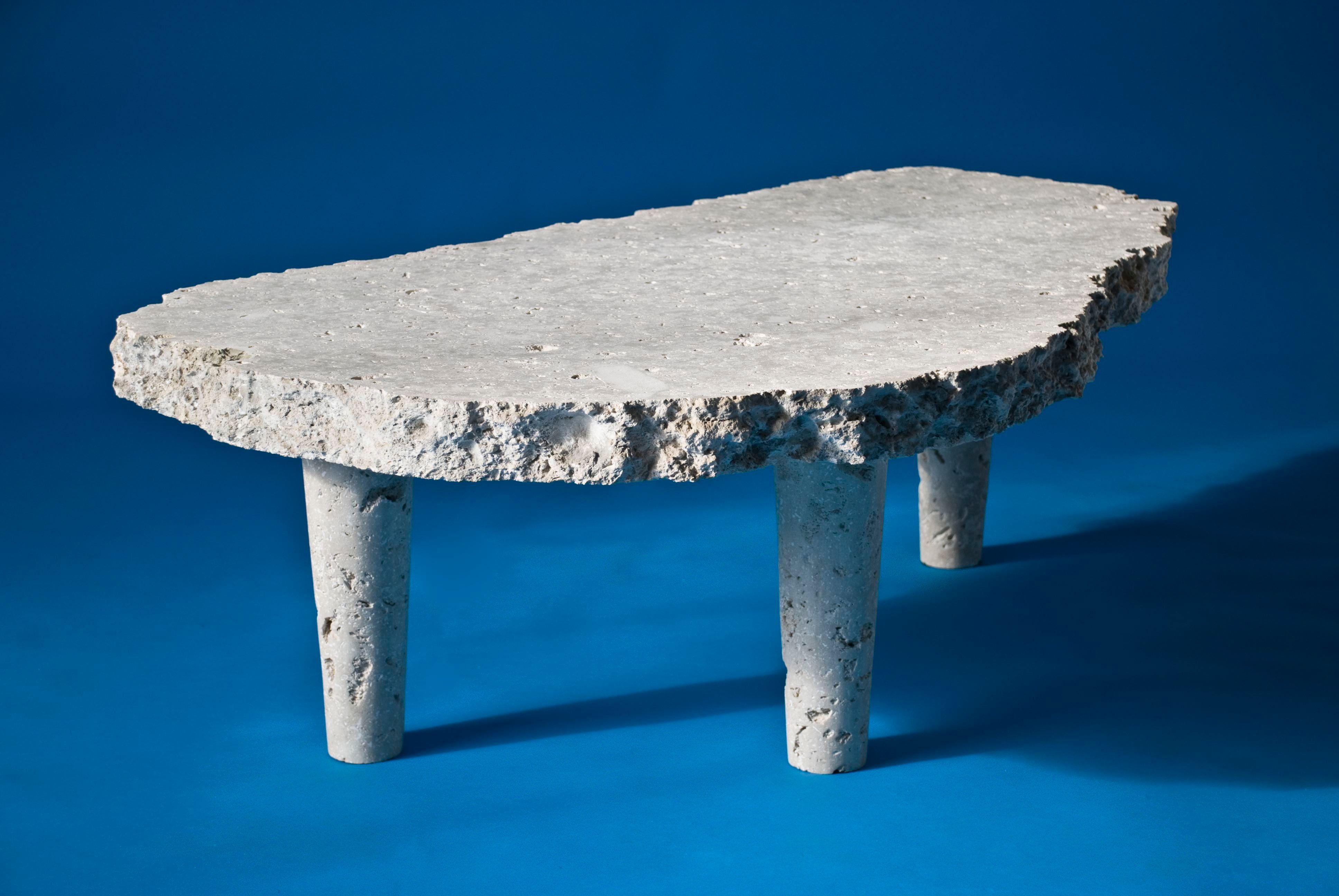 Dowiyogo´s Ancient Coral Coffee Table | Coral Limestone from the island of Nauru | 120 x 80 x 45 cm | 2009