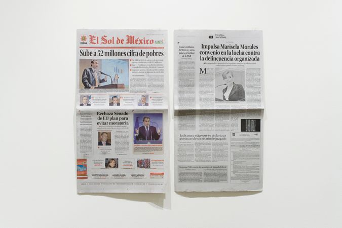 Murmullos | 7 periódicos | 58 x 32 cm c/u | 2011