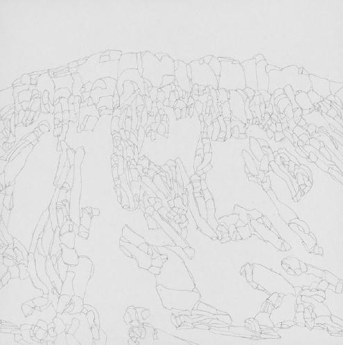 77 Colors of a Volcanic Landscape | Lápiz sobre papel | 30 x 30 cm| 2016