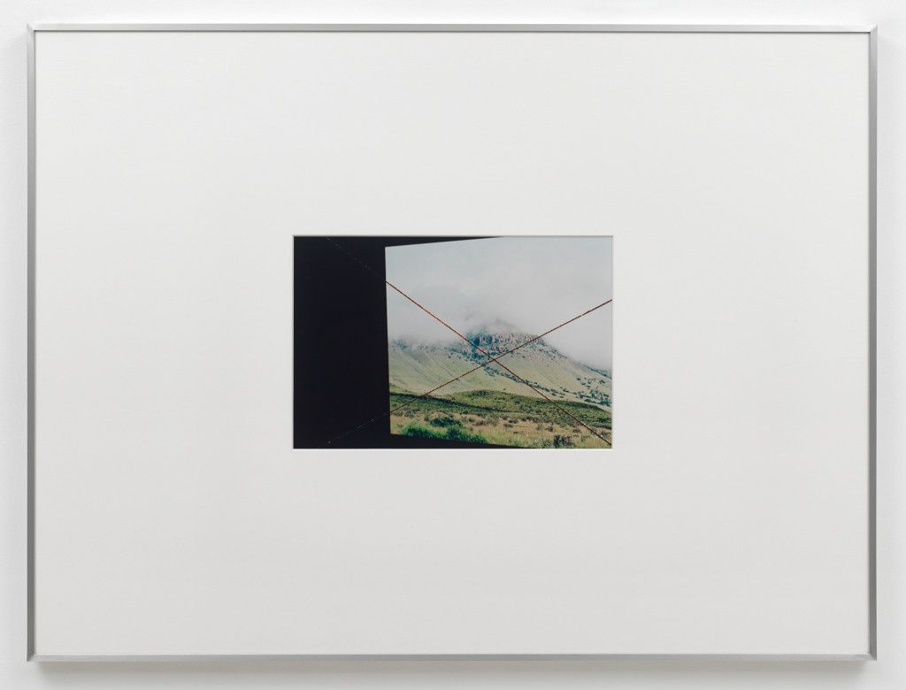 Flat Source Negative #6 | 2014 | Photograph produced from acrylic scratched negative | Print 30 x 45 cm | Frame 90 x 123 x 6 cm