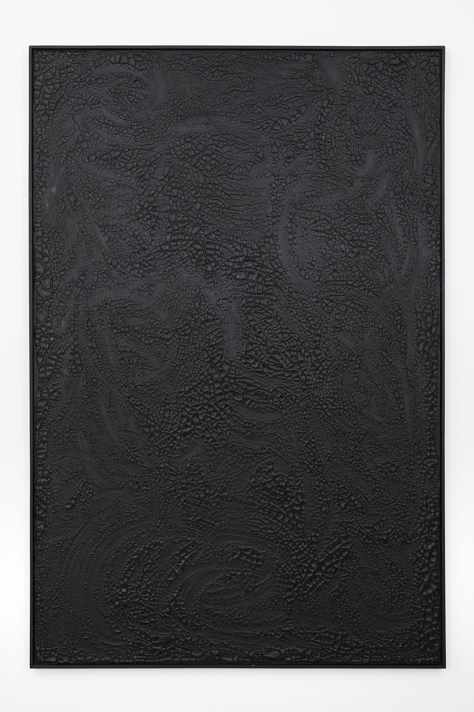 Beatriz Zamora (1935)   El negro 1019   1993   Mixta sobre tela   Mixed on canvas 210 x 140cm  (82.68 x 55.12inches)