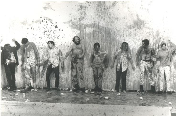 Vintage print: Destruction Theater   1969   Hollywood, CA. at Ace Gallery   1969   Fotografía por Irwin Glaser   2011