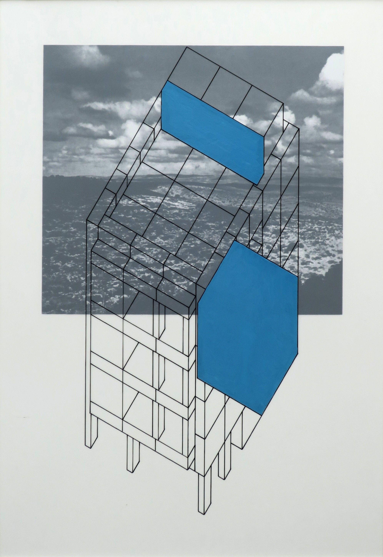 Tel Aviv Study 1 | Tinta y esmalte en mylar, impresión digital en carton de museo | 60.6 x 45.5cm  (23.86 x 17.91inches) 2019