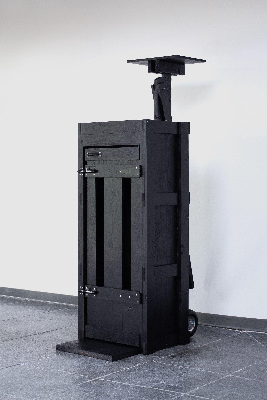 Data Server Rack | 2019 | Wood, hardware, paint, hay bailing twine