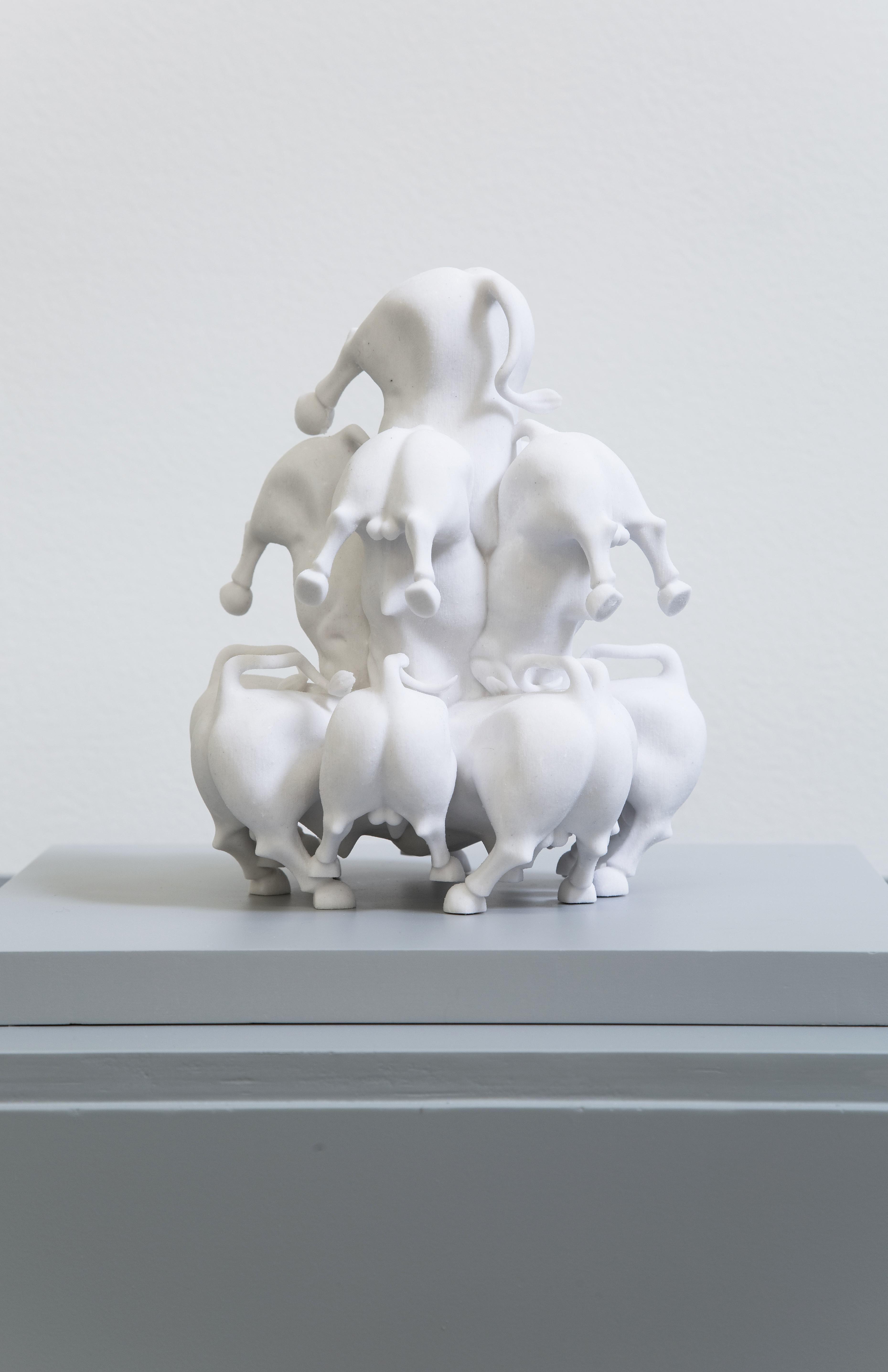 Estudios del Agotamiento: estudio no. IV, Especulación | Polvo de mármol y yeso, impresión en 3D  17 x 13.5 x 15cm | 2014 - 2015