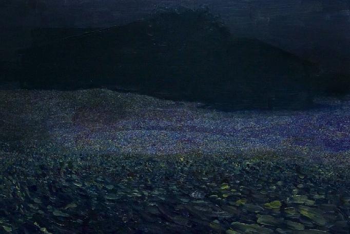 Untitled (graden) | Óleo sobre aluminio | 25 x 38 cm |2005