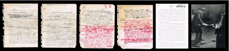 C-Print Ralph Ortíz  Piano Destruction Concert, New York City   1967   The Destructivist Manifesto   Ralph Ortiz   1957-1962 (Manuscrito, 4 páginas) C-print: 25.3 x 20.3 cm   Destructivism. A Manifesto    26 x 21.6 cm   The Destructivist Manifesto   25.2 x 20.3 cm c/pág   2011