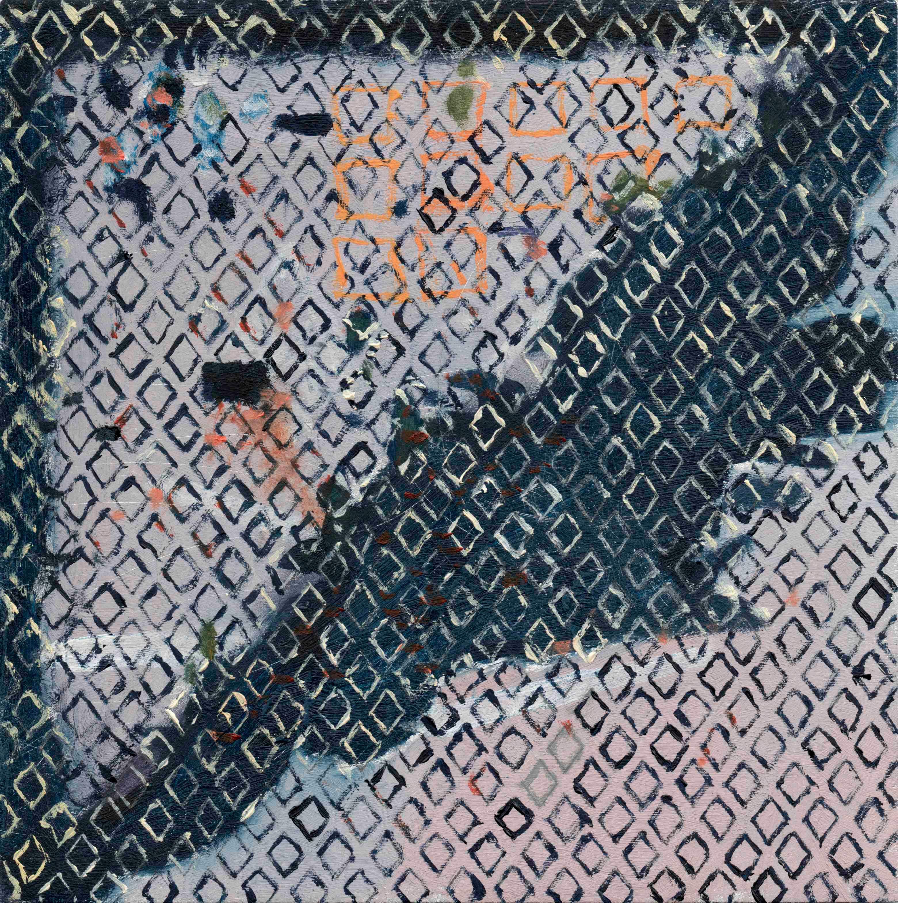 Impediments | Óleo sobre aluminio | 10 x 10 cm | 2015