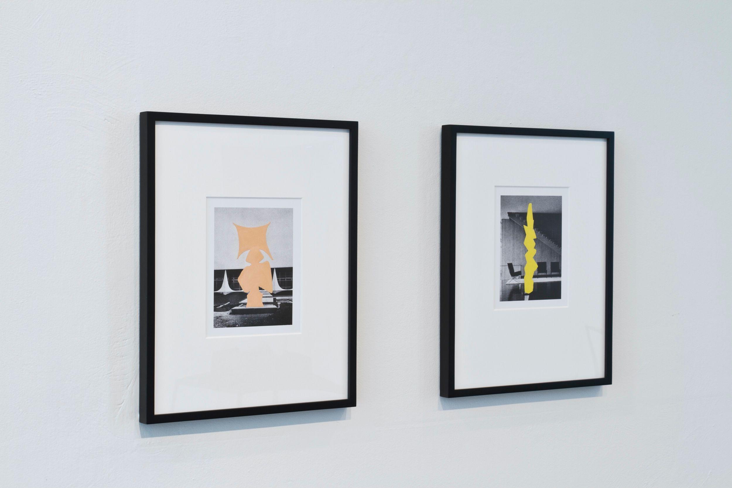 Art in Latin American Architecture |  Enamel on digital prints 40 x 30 cm each| 2012