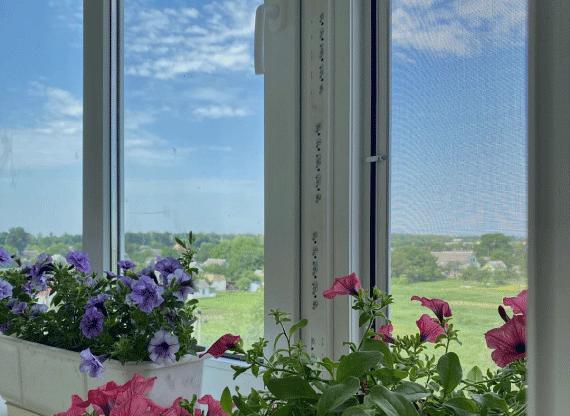Вікна Rehau на балконі в Борисполі