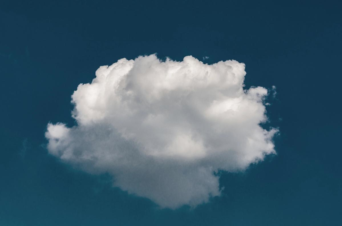 An image of a cloud on a blue sky.
