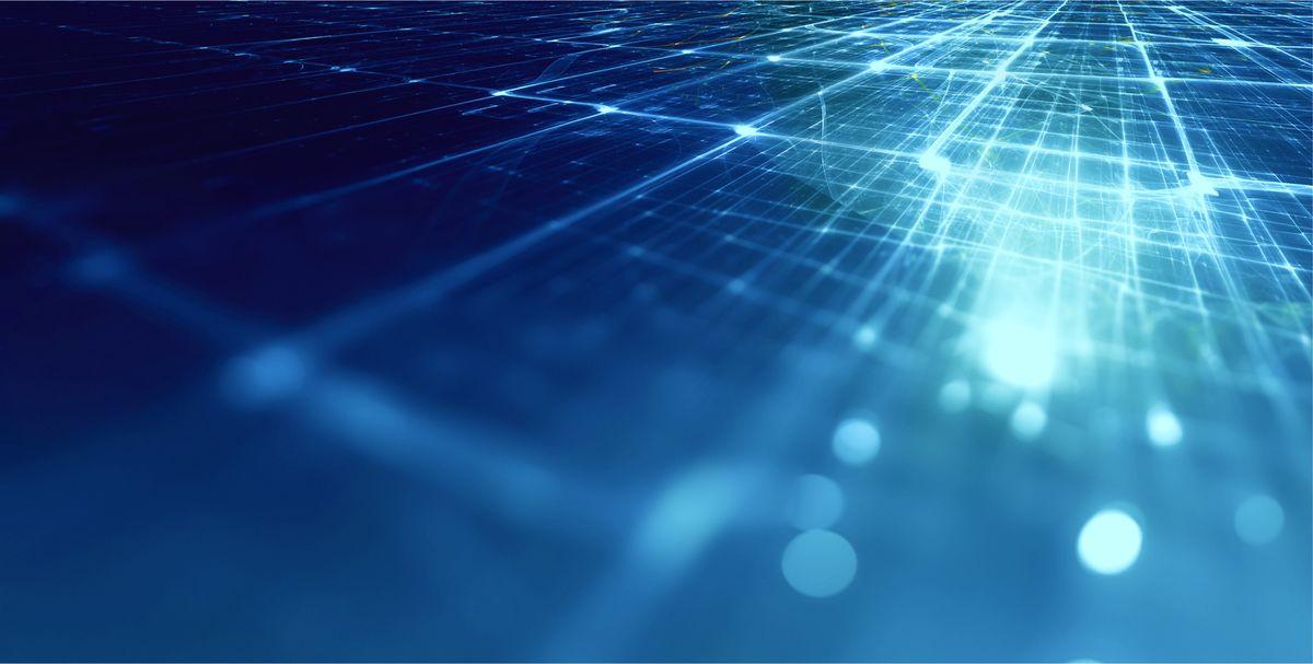 Blue light shining through a prism