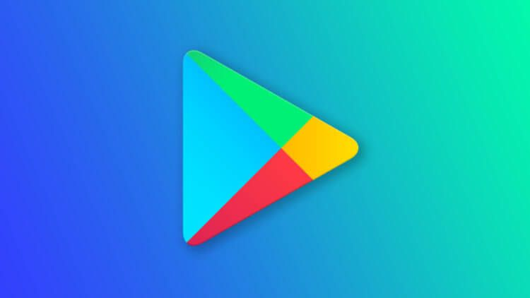 Google Play Logo on a blue background