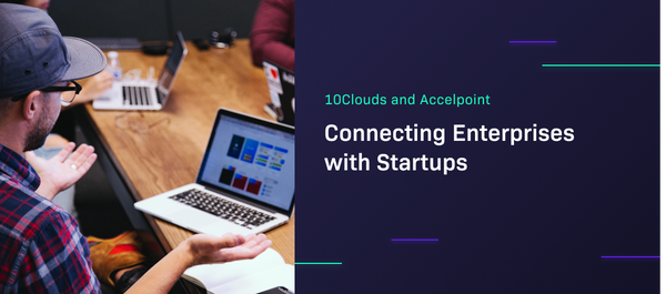 10Clouds and Accelpoint - header image showing developers' meeting