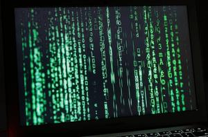green code on a black screen