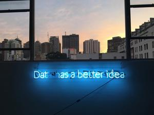 Sign saying 'Data has a better idea'