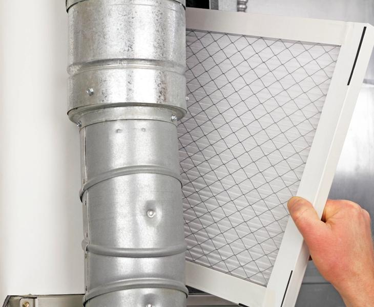 Changing HVAC filters.