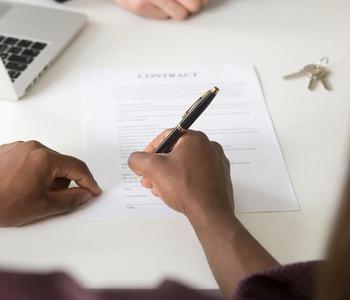 Co-signing VA loan documents.