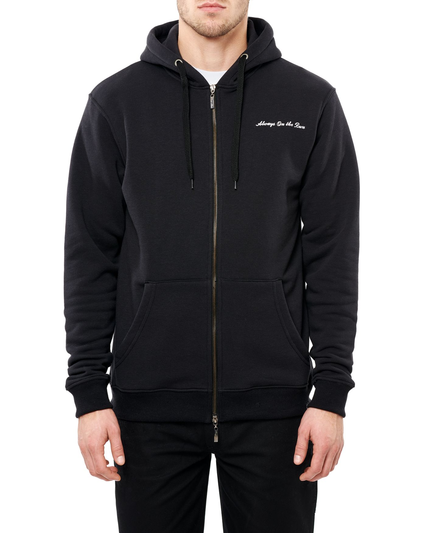 Photo of On the Run Zip Hooded Sweatshirt, Black