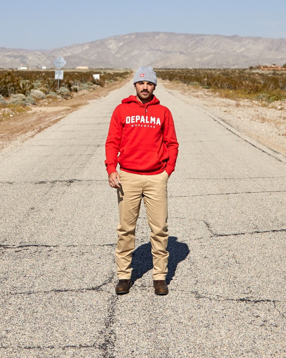 Photo of Logo Hooded Sweatshirt, Red