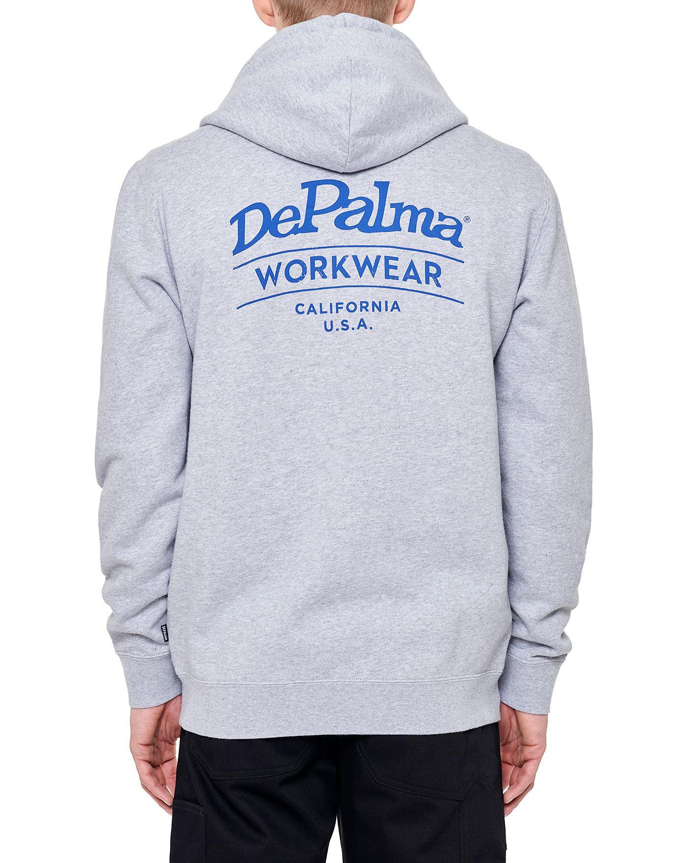 Photo of Blood Brothers Zip Hooded Sweatshirt, Grey Melange