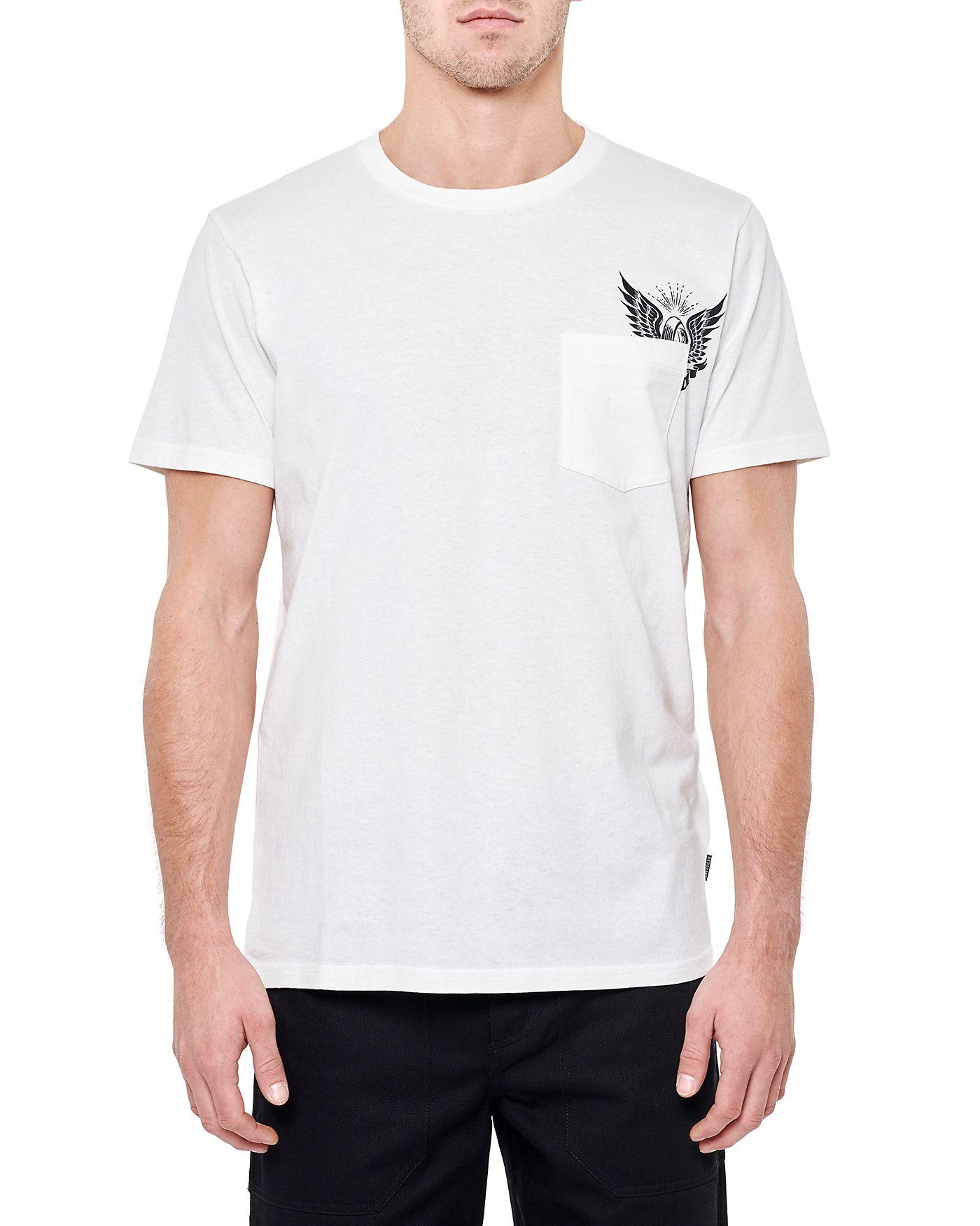 Photo of Thunder Road Pocket S/S Pocket T-shirt, White