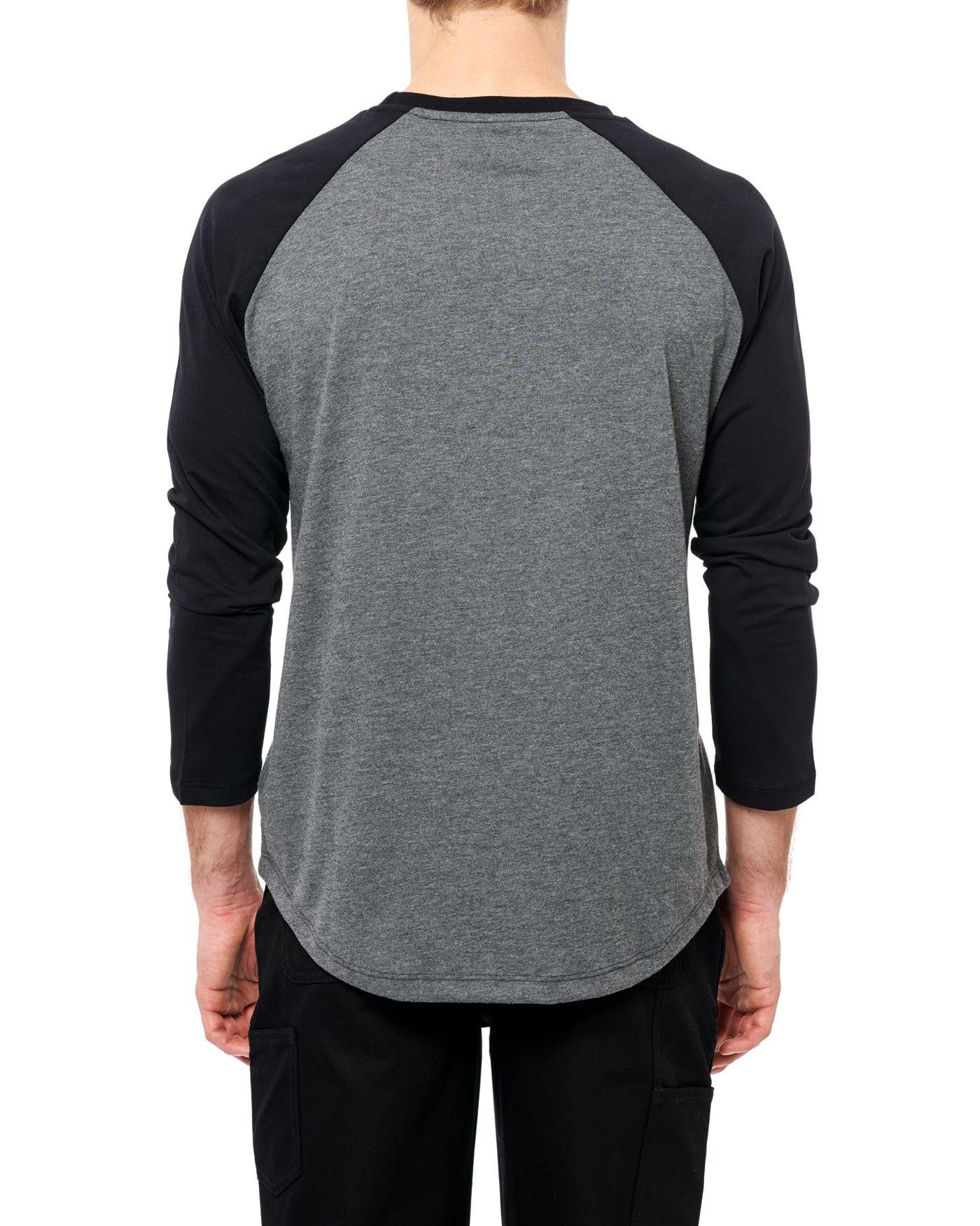 Photo of Nothing Man 3/4 Raglan T-shirt, Grey Melange