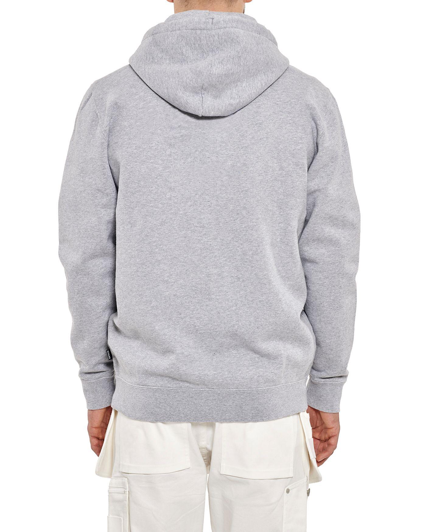 Photo of Alcro Zip Hooded Sweatshirt Zip Hooded Sweatshirt, Grey Melange