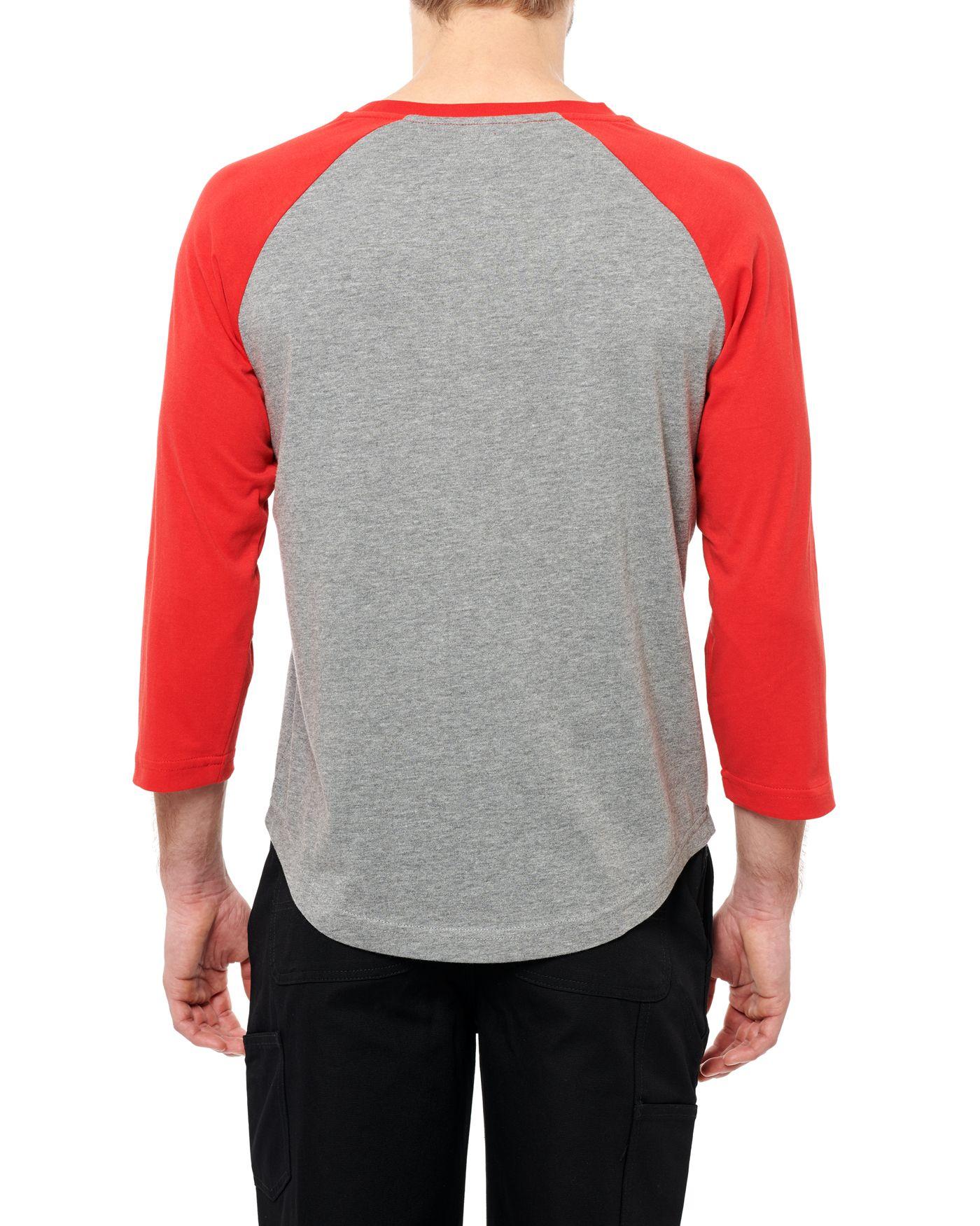 Photo of Wildcat 3/4 Raglan T-shirt, Grey Melange