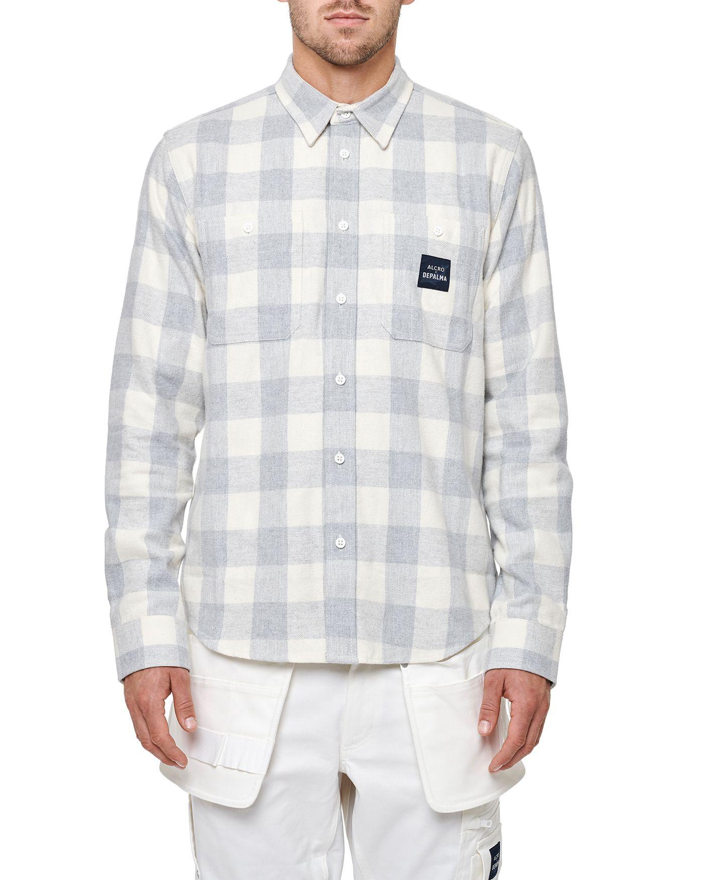 Photo of Alcro L/S Flannel Shirt Alcro L/S Flannel Shirt, White