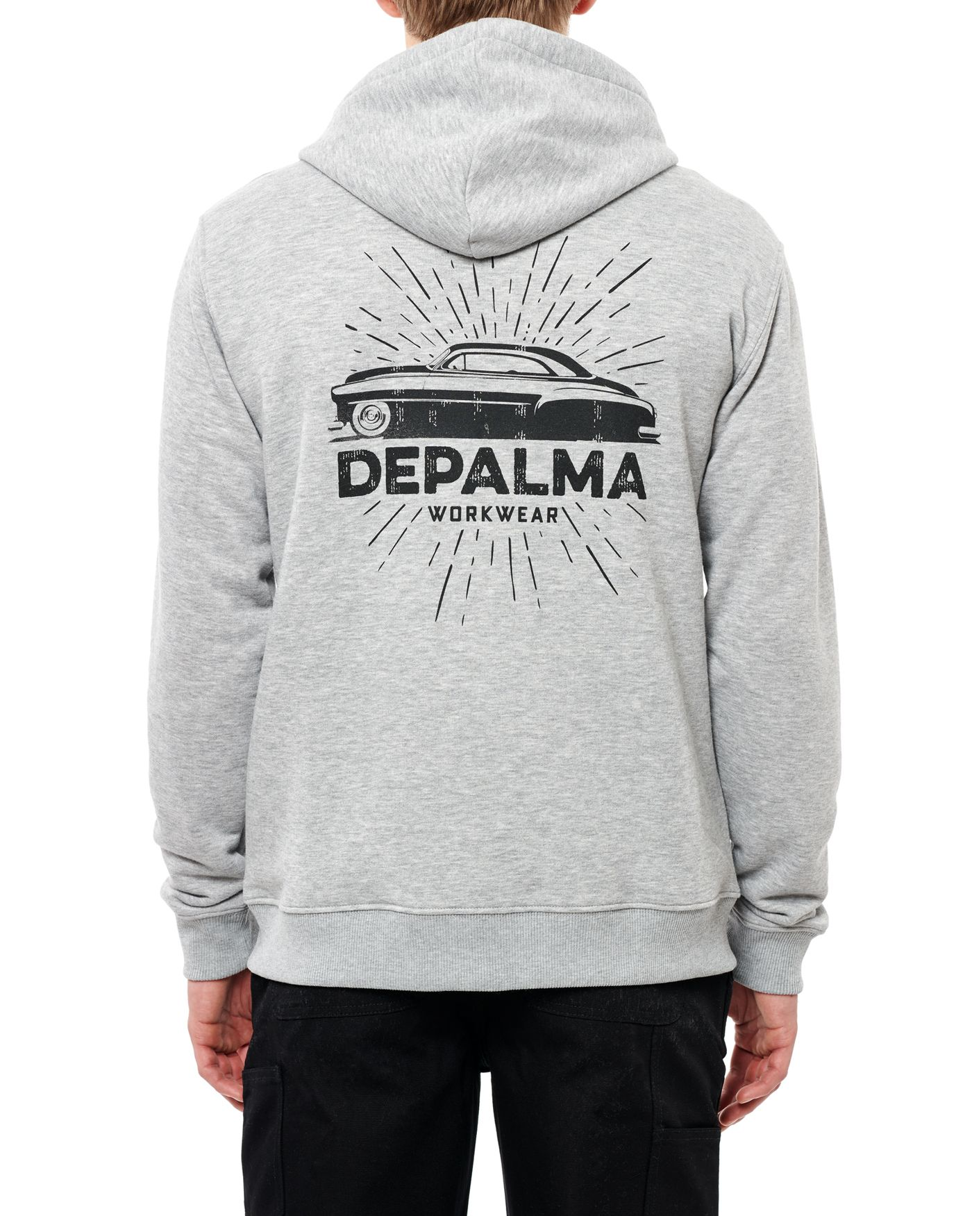 Photo of On the Run Zip Hooded Sweatshirt, Grey Melange