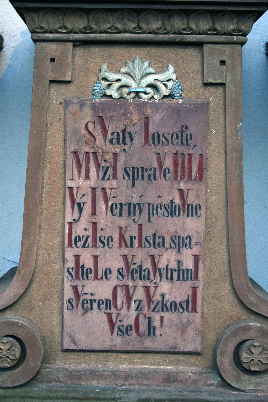 český chronogram ve Sloupnici