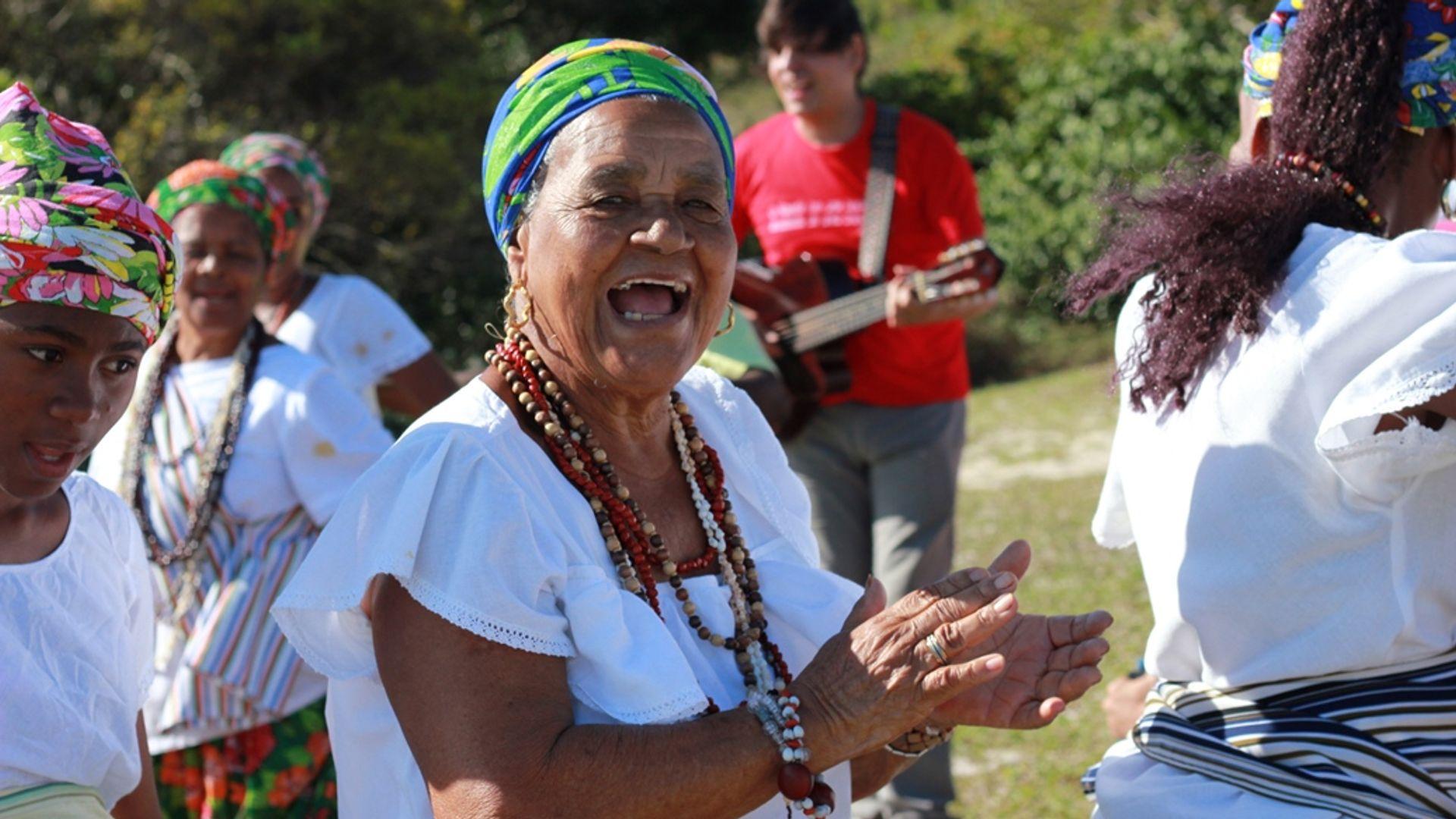 Dona Mariinha. Foto: Acervo da Associação Cultural As Ganhadeiras de Itapuã
