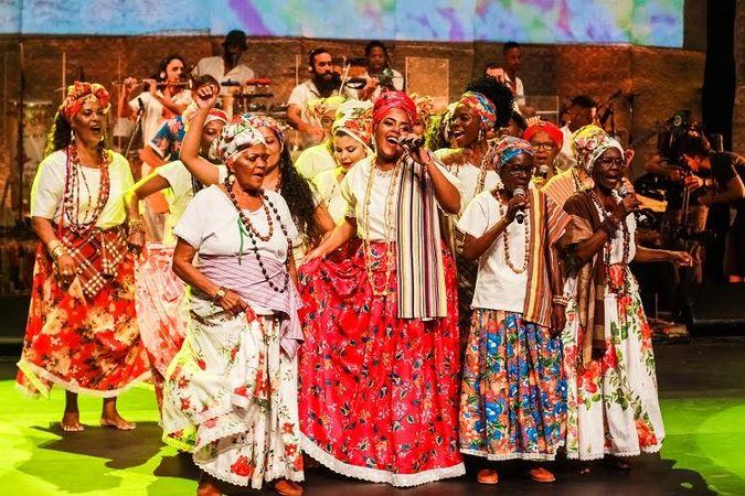 Ganhadeiras de Itapuã no show de gravação do DVD. Foto: Leto Carvalho