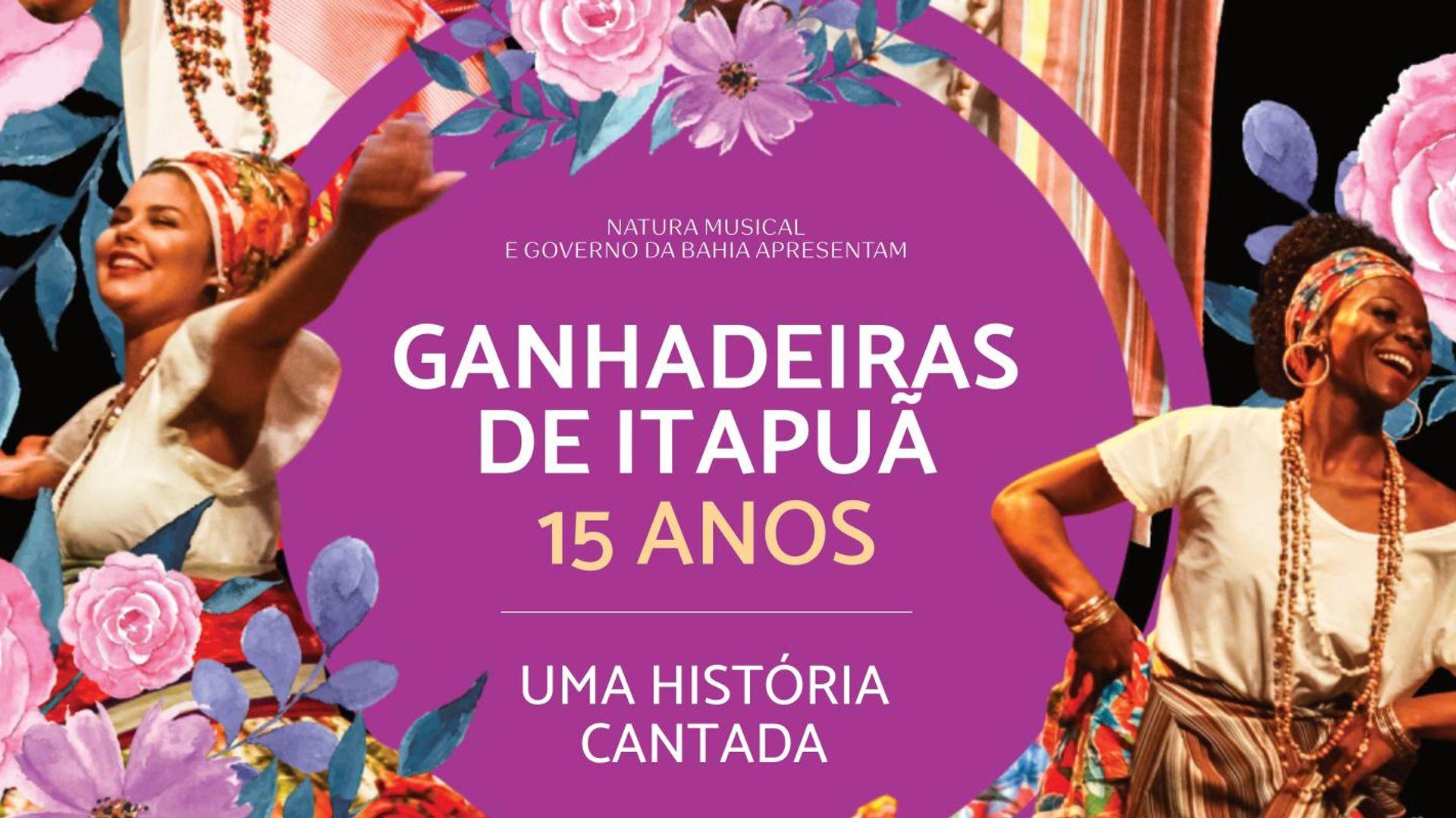 """Capa do DVD """"As Ganhadeiras de Itapuã – Uma História Cantada"""""""