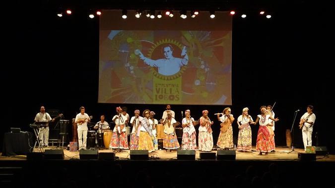 Ganhadeiras no Festival Villa Lobos. Foto: Salviano Filho