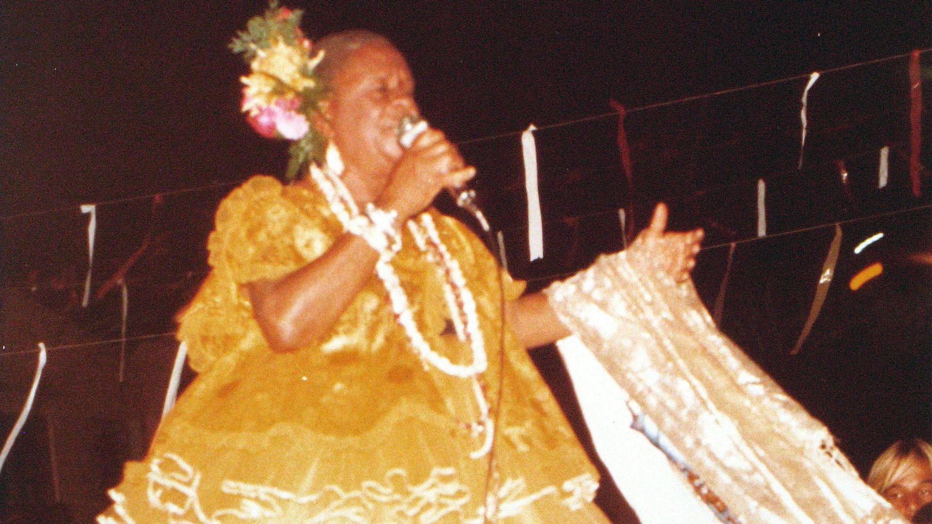 Dona Francisquinha. Foto: Acervo da Associação Cultural As Ganhadeiras de Itapuã