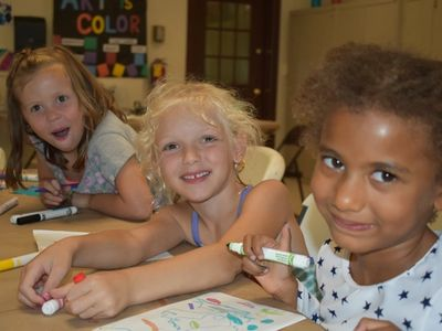 kids at art at Rambling Pines Day Camp