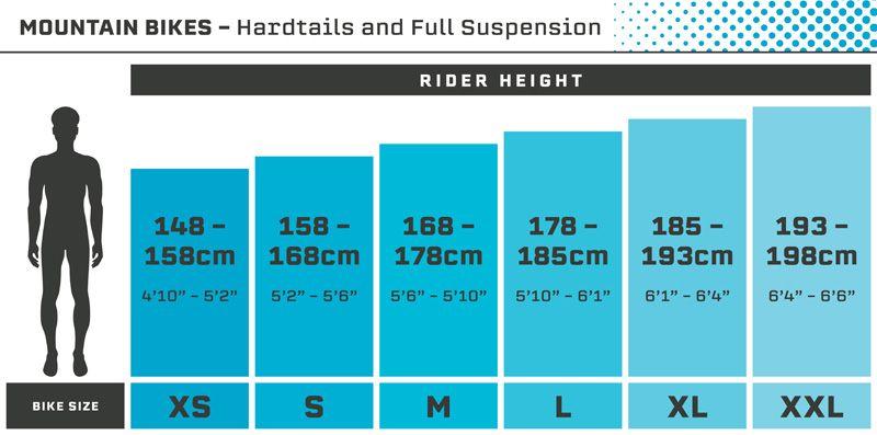 Mens Mountain Bike Size Guide