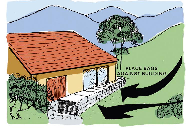 Flood - Flood prevention barrier around home