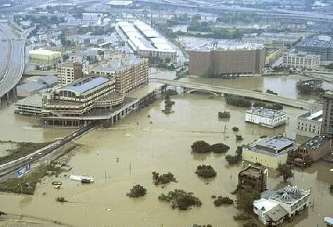 Flood - Houston flooding from topical storm Allison June 2001