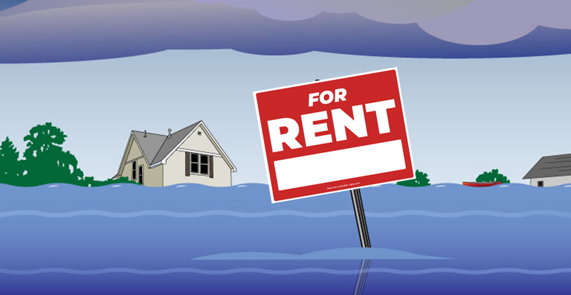Flood - Flood damaged rental house