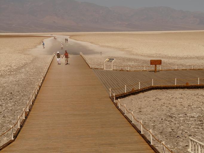 Drought - Badwater dock on dry land - Great Salt Lake