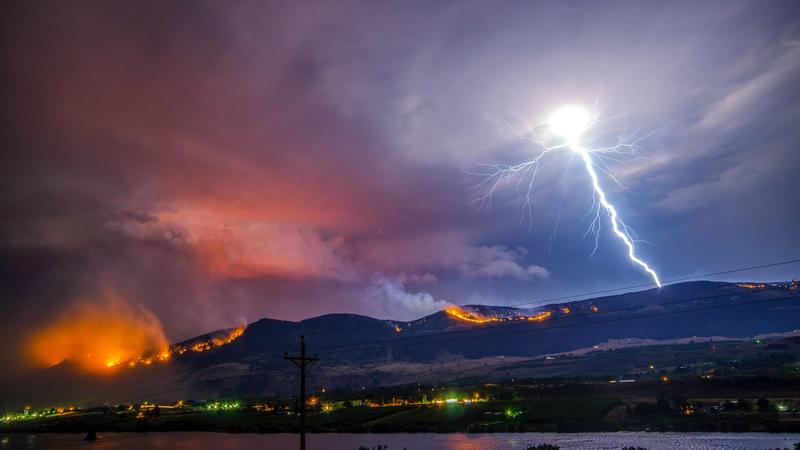 Fire: Lightning caused forest fire