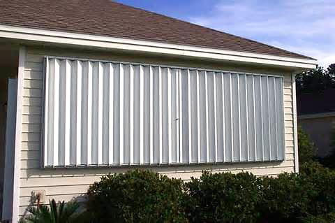 Storm - Window shutters to protect from wind damage