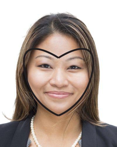 Heart-shaped face