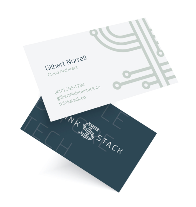 Think Stack business card mockups
