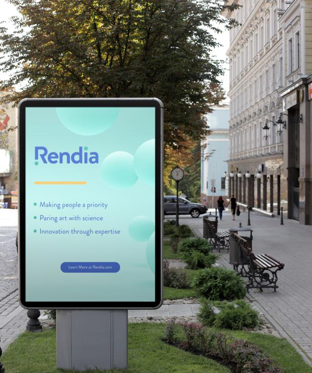 Rendia Signage Example