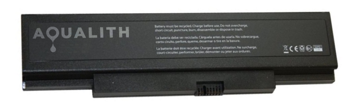 Battery with AquaLith logo across the back