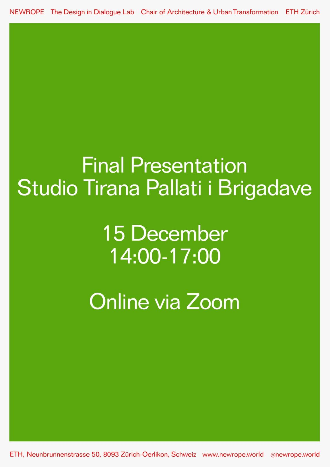 Poster final presentation Studio Tirana